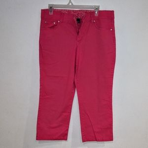 Missy Bandolino Boheme Stretch Capris Pink/Coral